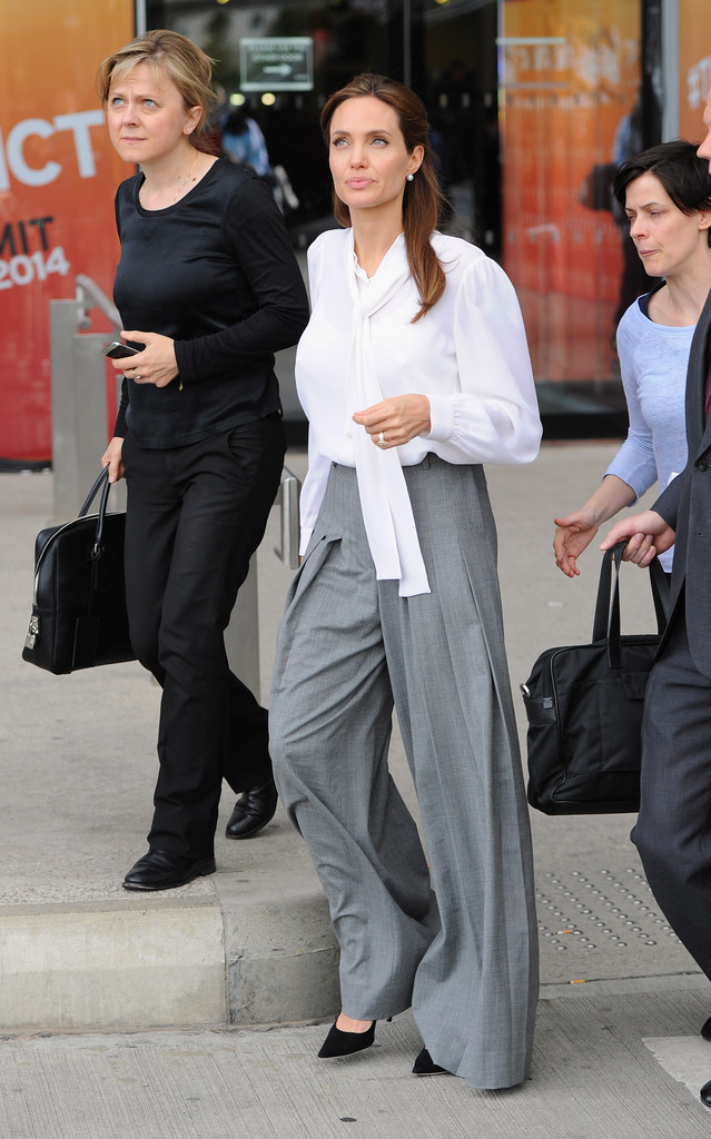 Angelina+Jolie+Pants+Shorts+Wide+Leg+Pants