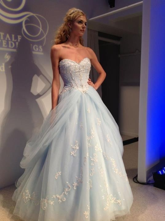 Blue-Cinderella-Wedding-Dress