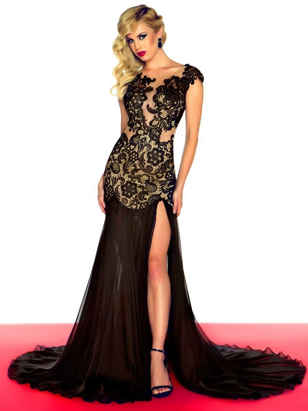 black-lace-prom-dresses-vintage-