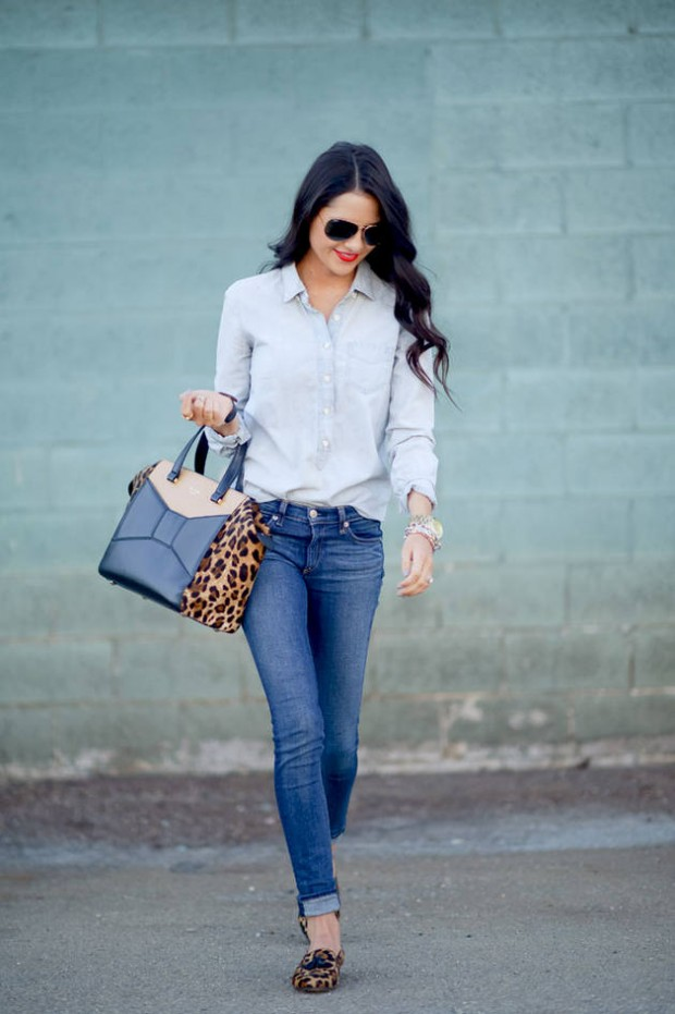 leopard-print-purse-Outfit Ideas for Fall