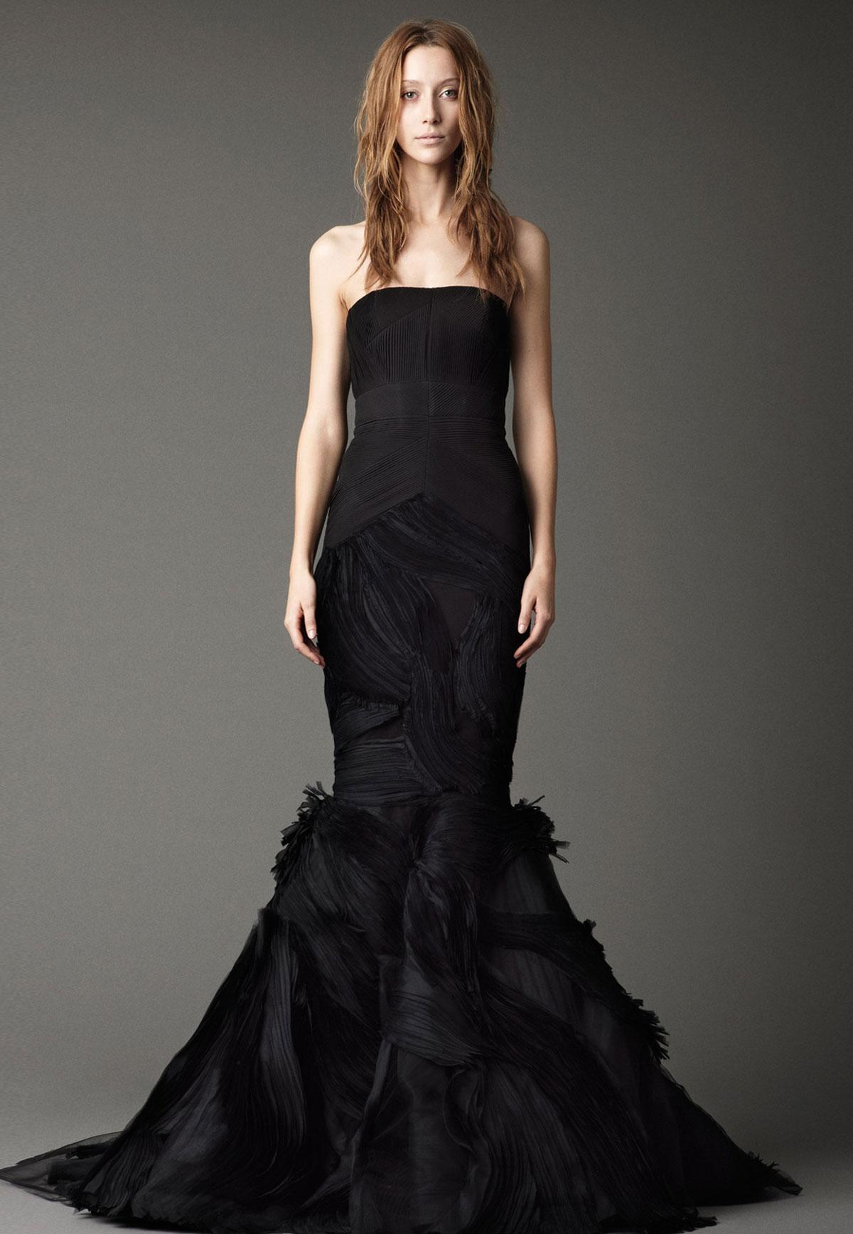 lovely black wedding dress