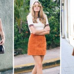 Stylish Ways to Wear Suede Skirts