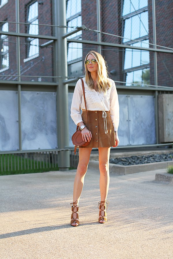 Suede-Button-Down-Skirt
