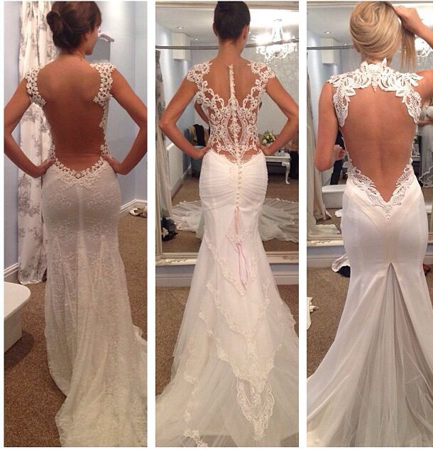 Various Backless Wedding Dresses