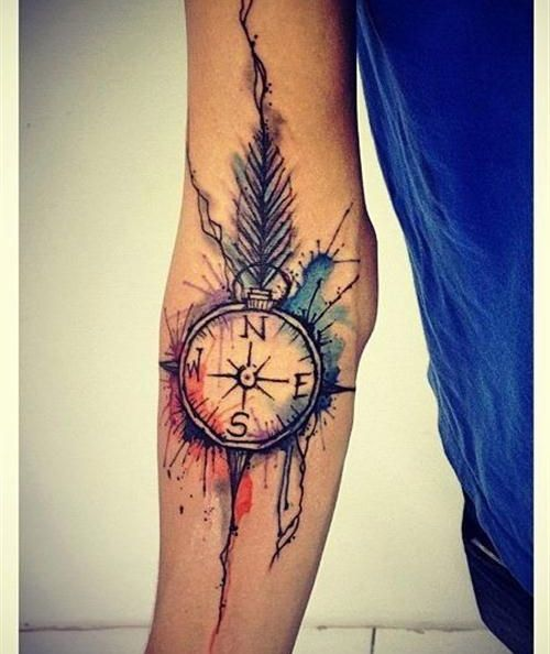 Watercolor Sleeve Tattoo Design