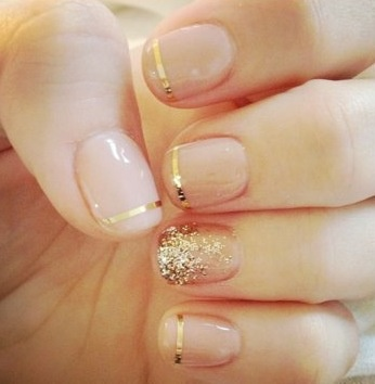Gold-Wedding-Nail-Idea