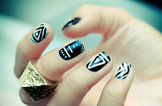 Stunning Tribal Nail Designs