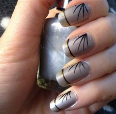 Gray Nail Art Designs Ideas