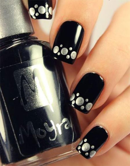 Very-Easy-Black-Nail-Art-Designs-Ideas