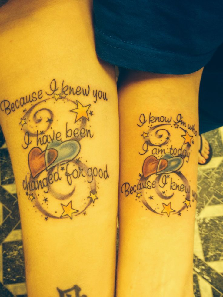 beautiful best friend tattoos