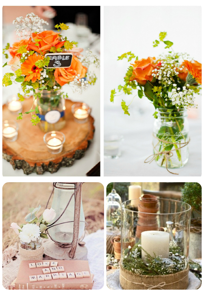 Unique Rustic Wedding Centerpieces