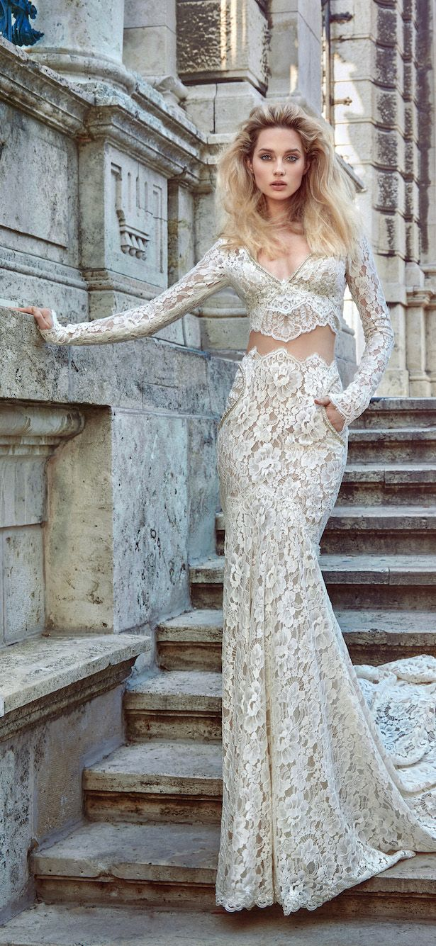 two-pieces-wedding-dress-with-long-sleevs