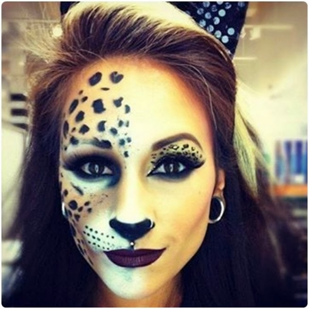 Half Face Halloween Makeup Ideas