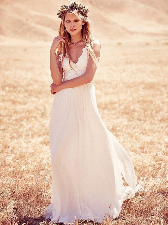 marvelous bohemian wedding dress
