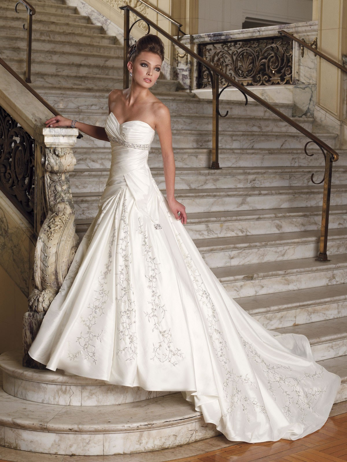 taffeta-hand-draped-sweetheart-a-line-wedding-dress