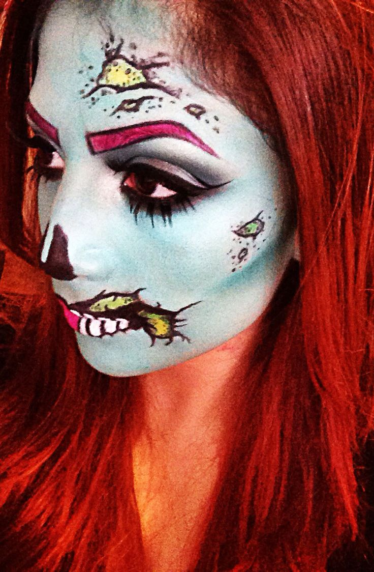 Girl Zombie Halloween Makeup