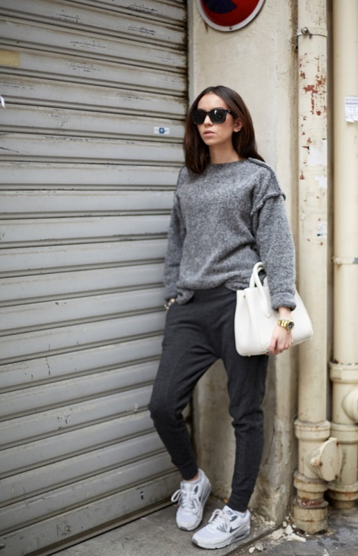 Womens-Grey-Oversized-Sweater