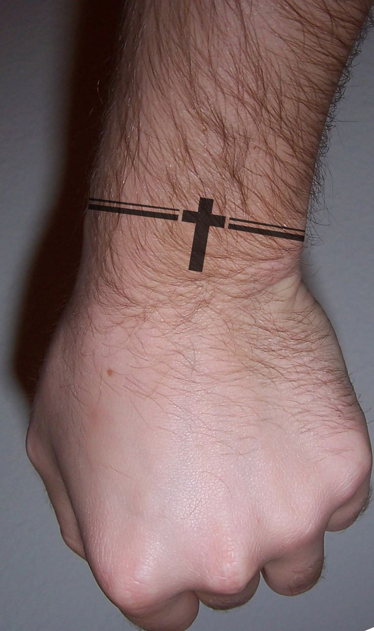 Small-Cross-Tattoo-On-Wrist