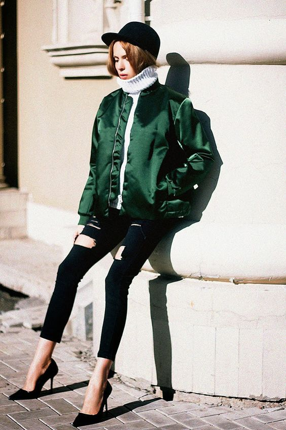 amazing-silk-bomber-jacket-outfits