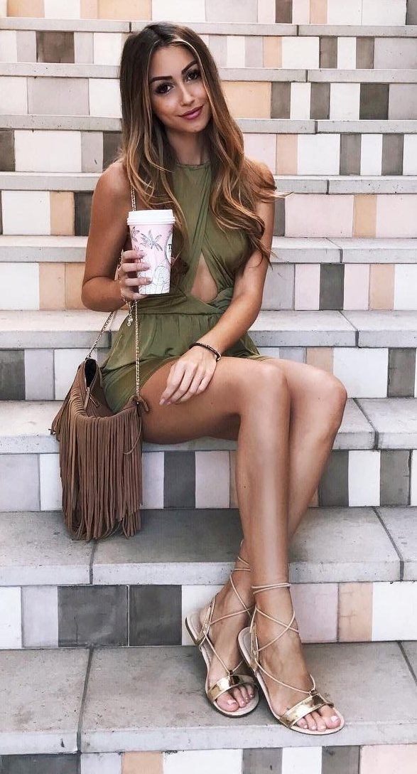 green-dress-shoulder-bag